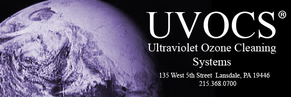 UVOCS Inc Ultra Violet Ozone Cleaning Systems Banner